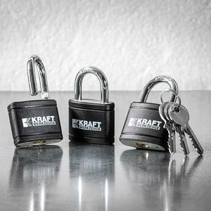 Kraft Werkzeuge Gleichschließendes Sicherheitsschloss 3er-Set