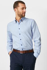 C&A Businesshemd-Slim Fit-Button-down, Blau, Größe: S