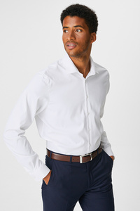 C&A Businesshemd-Slim Fit-Cutaway, Weiß, Größe: XL