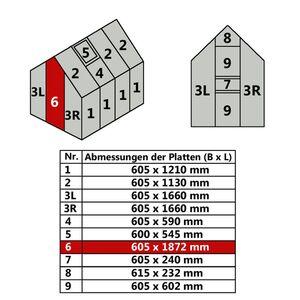 Hohlkammerstegplatte 60,5 x 187,2 cm