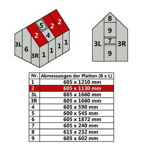 Hohlkammerstegplatte 60,5 x 113 cm