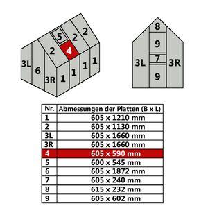 Hohlkammerstegplatte 60,5 x 59 cm