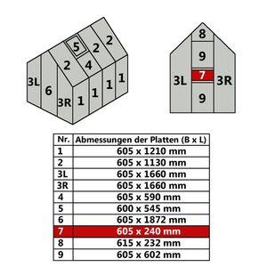 Hohlkammerstegplatte 60,5 x 24 cm