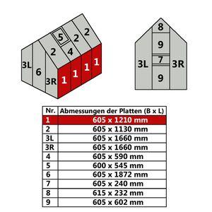 Hohlkammerstegplatte 60,5 x 121 cm