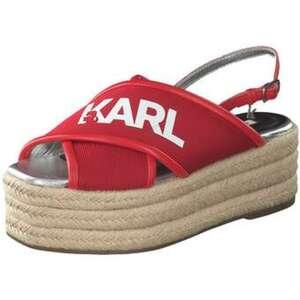 Karl Lagerfeld Kamini Platform X Sandale Damen rot