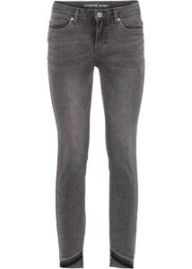 Skinny-Jeans mit offenem Saum