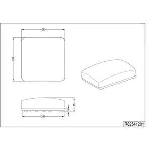 Reality LED-Deckenleuchte Patz Weiß Kunststoff EEK: A+
