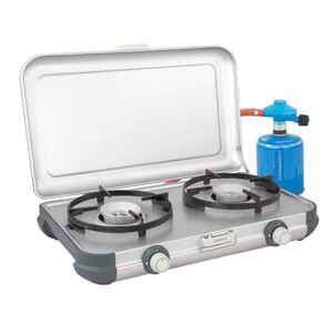 Campingkocher 2-flammig Kitchen Kit CV mit Druckminderer und Schlauch