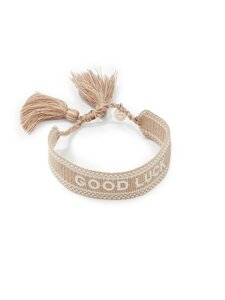 Armband To the moon GOOD LUCK Lua Accessoires beige