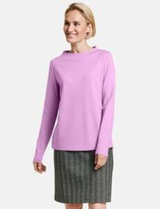 Sweatshirt mit Lift Up Kragen