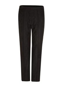 Damen Regular Fit: Ankle-Hose aus Velours