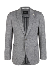 Herren Slim Fit: Jerseysakko aus Wollmix