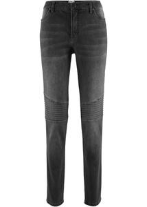 Maite Kelly Stretch-Jeans mit Bikerdetails