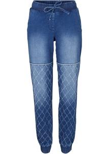 Baumwoll-Jeans im Bikerlook mit Bequembund