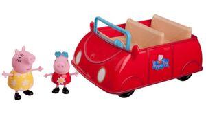 Jazwares - Peppa Pig - Großes rotes Auto mit 2 Figuren