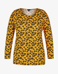 Via Cortesa - Shirt mit floralem Alloverprint