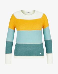Steilmann Woman - Color-Blocking-Pullover mit Mohair-Anteil