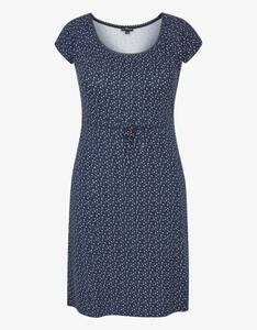 Via Cortesa - kurzes Jersey-Kleid mit Allover-Druck