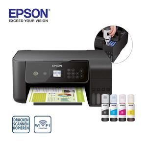 EcoTank ET-2720 · 3-in-1-Tintenstrahldrucker mit 3,7 cm großer LCD-Anzeige · eignet sich ideal für moderne Privathaushalte, die ihre Druckkosten senken und mobil drucken möchten · inklusive Tin