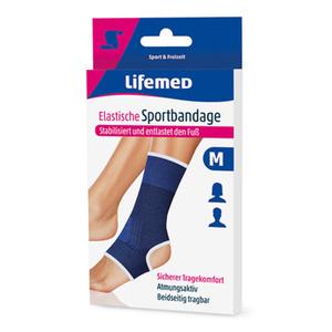 Fuß-Sportbandage elastisch in blau (M)