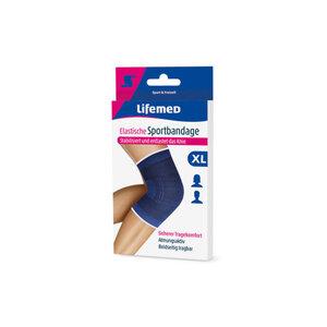 Knie-Sportbandage elastisch in blau (XL)