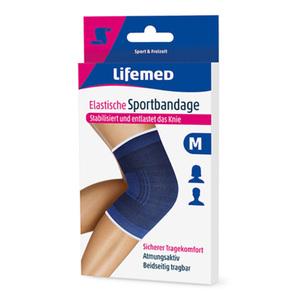 Knie-Sportbandage elastisch in blau (M)