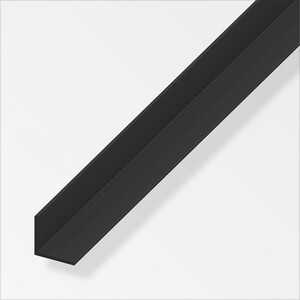 Winkel 15x15x1mm 1m PVC schwarz