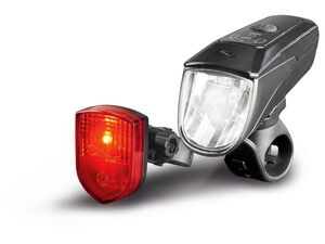 CRIVIT® Fahrradleuchtenset, LED, selbstabblendend