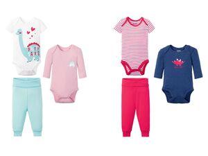 LUPILU® Baby Set Mädchen, 3-teilig, mit Knöpfung