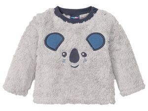 LUPILU® Baby Teddypullover Jungen, mit Schulterknöpfung