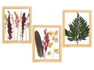 Trendige Trockenblumen im Holzrahmen