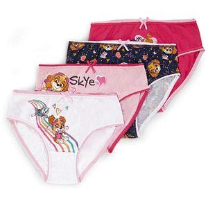 Kinder Lizenz Unterwäsche für Mädchen im 4er Pack, Paw Patrol, Gr. 98/104