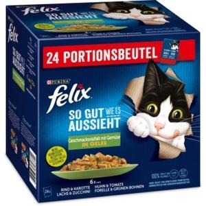 Felix So gut wie es aussieht 24x85g Geschmacksvielfalt mit Gemüse