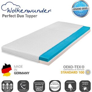 Wolkenwunder Topper Perfect DUO Wendetopper mit Spezial-Kombi-Schaum... 100x200 cm