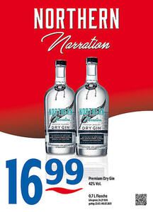 Northern Narration Premium Dry Gin 42% Vol.