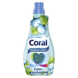 Coral Colorwaschmittel flüssig Wasserlilie & Limette 1,1l, 22WL