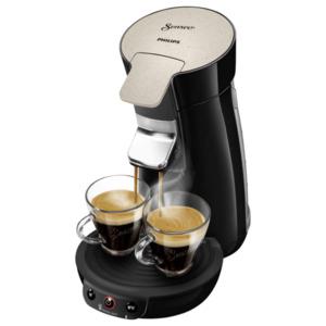 Philips Senseo Kaffeepadmaschine Eco Viva Café HD6562/35 schwarz, nougat