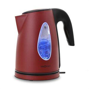oneconcept SS17 Wasserkocher 2200W 1,7l LED-Lichteffekt Cool-Touch rot