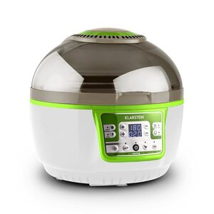 Klarstein VitAir Turbo Heißluftfritteuse grün-weiß 1400W Grillen Backen 9l