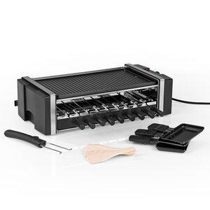MAXXMEE Multi-Raclette-Grill - 3in1 - 1200 W - schwarz, Mehrfarbig
