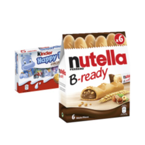 Nutella B-ready, Kinder Cards oder Happy Hippo
