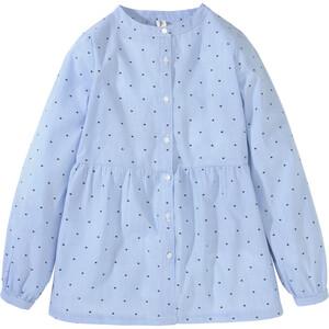 Mädchen Bluse mit Herz-Allover