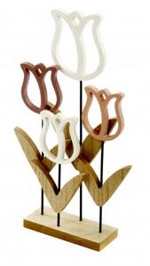 TrendLine Holzblume ,  17 x 5 x 30 cm