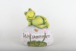 TrendLine Dekofrosch Willkommen ,  31 x 16 x 34 cm