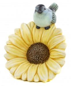 TrendLine Dekofigur Vogel auf Blume ,  28 x 23 x 31 cm