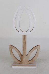 TrendLine Deko Holz-Blume ,  15 x 6 x 29 cm