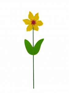 TrendLine Filz Deko-Blume Stecker ,  13 x 50 cm
