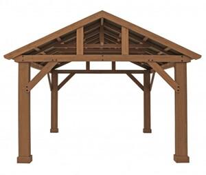 Westmann Holzpavillon Yukon 14x12 ,  Natur braun, 427x366x330 cm