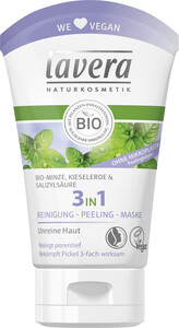 lavera Naturkosmetik 3 in 1 Reinigung Peeling Maske 125 ml