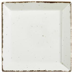 Landscape Servierplatte , Urban Life , Weiß , Keramik , Used look , 28x28 cm , glänzend , handgemacht , 005653003601